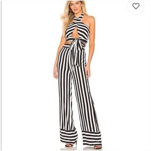 Lovers + Friends Striped Lux Top & Pants